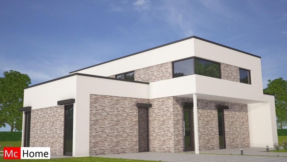 Kubustiche villa onder architectuur m103 mchome - Moderne buitenkant indeling ...