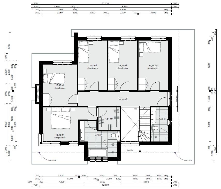 Frank lloyd wright moderne kubistische bouwstijl m164 mchome for Indeling woning