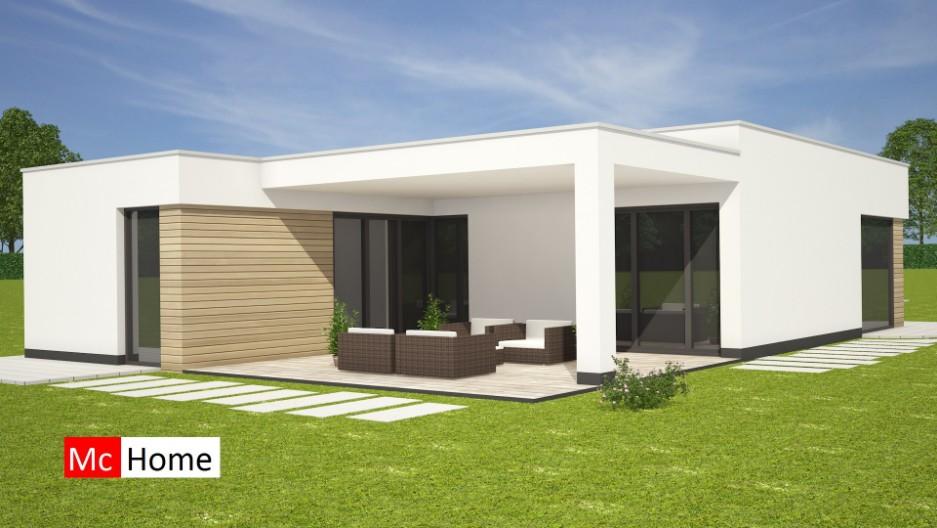 Nieuwe Moderne Bungalow Met Plat Dak Bouwen B35 - Mchome