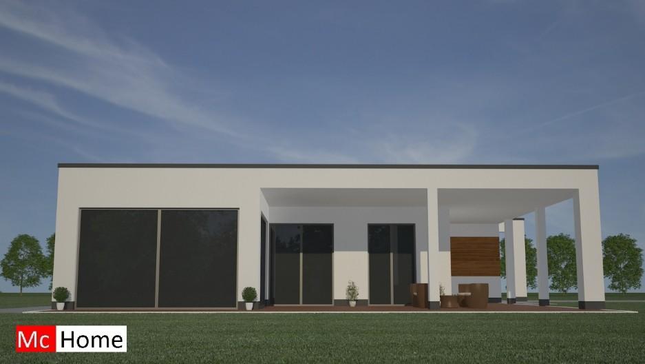 Moderne bungalow b22 mchome - Hoe een overdekt terras te bouwen ...