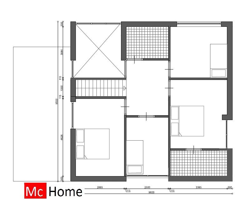 Kubistische woning met veel glas m108 mchome - Indeling m studio ...