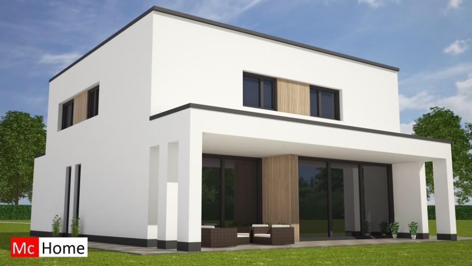 Moderne kubistische woning overdekt terras m121 mchome for Terras modern huis