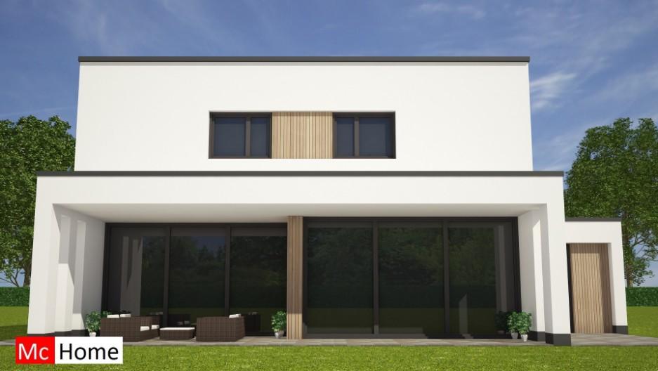Moderne kubistische woning overdekt terras m121 mchome - Hoe een overdekt terras te bouwen ...