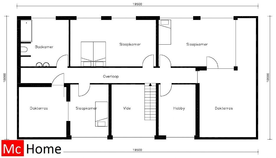 kubistisch m43 mchome On moderne villa plattegrond
