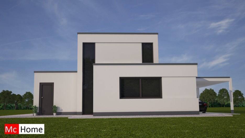 Moderne energieneutrale woning bouwen mc m81 mchome - Terras van huis ...