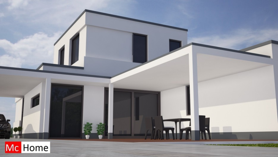 Moderne energieneutrale woning bouwen mc m81 mchome for Terras modern huis