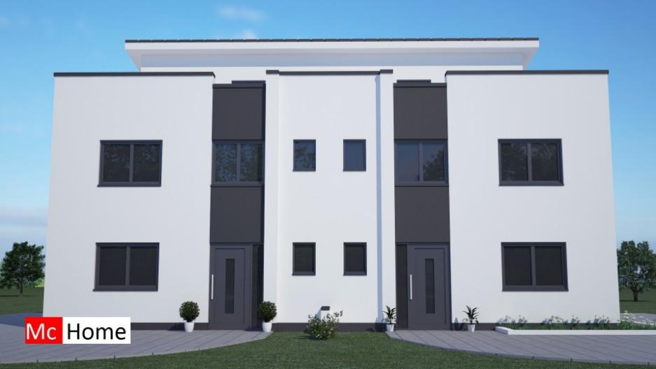 Best mchomenl tk moderne onder kap woningen met patio en for Moderne laagbouw woningen