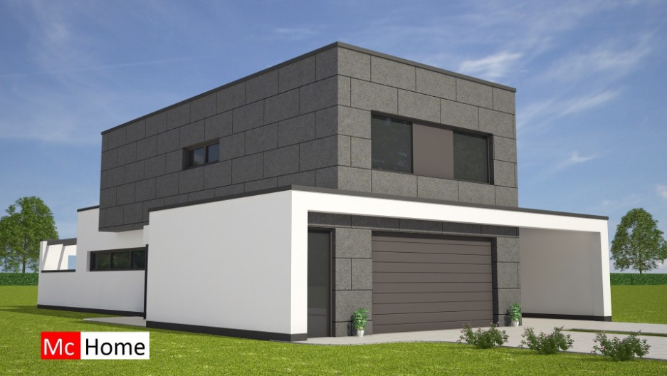 Moderne kubistische kubuswoning m140 mchome for Modern house 80m2