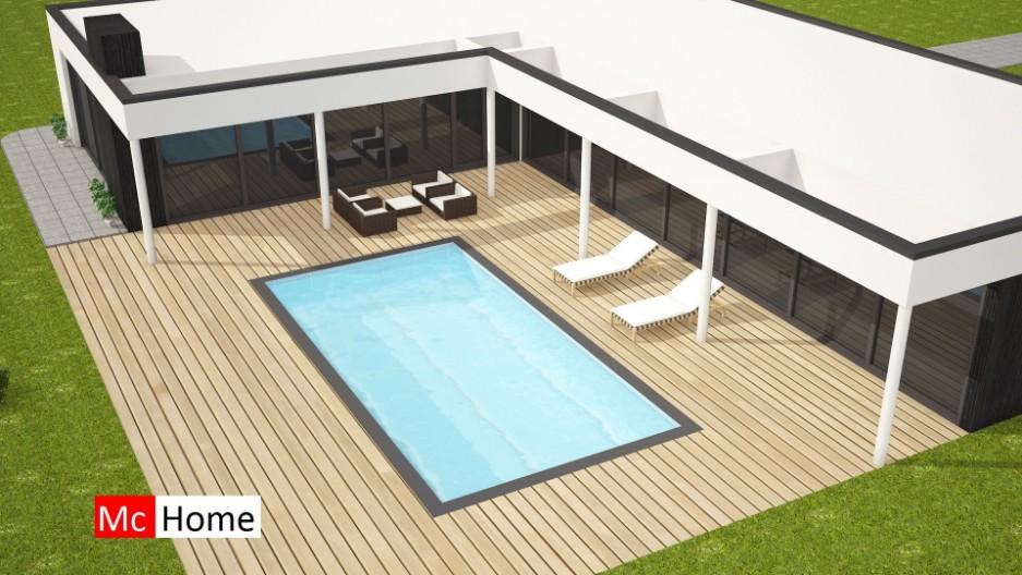 Nieuwe moderne bungalow met plat dak bouwen b33 mchome for Moderne semi bungalow bouwen
