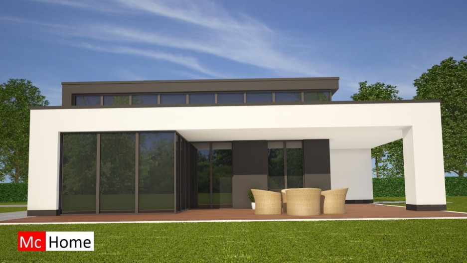 Moderne bungalow onder architectuur bouwen b84 mchome - Model van huisarchitectuur ...