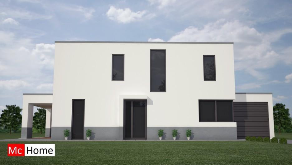 Moderne kubistische villa in staalframebouw m24 mchome - Bouw een overdekt terras ...