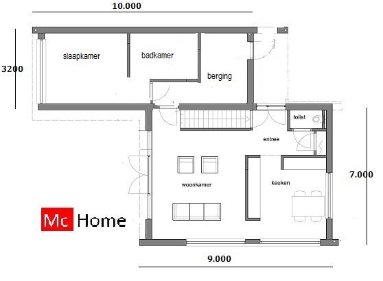 moderne woning met verdieping M87 - McHome