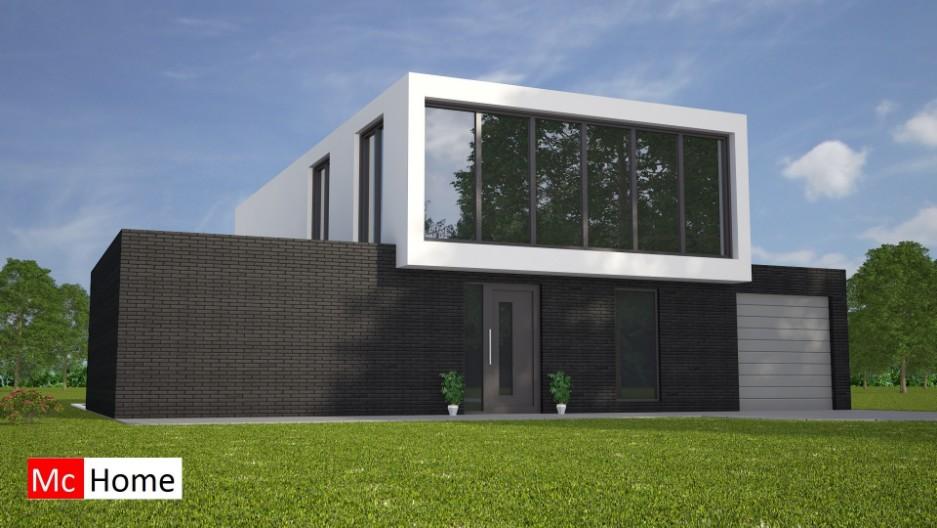 Moderne kubistische villa met architect m92 mchome - Eigentijds tuinmodel ...