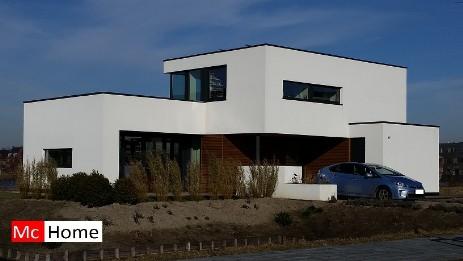 Gevelafwerking mchome for Moderne villabouw