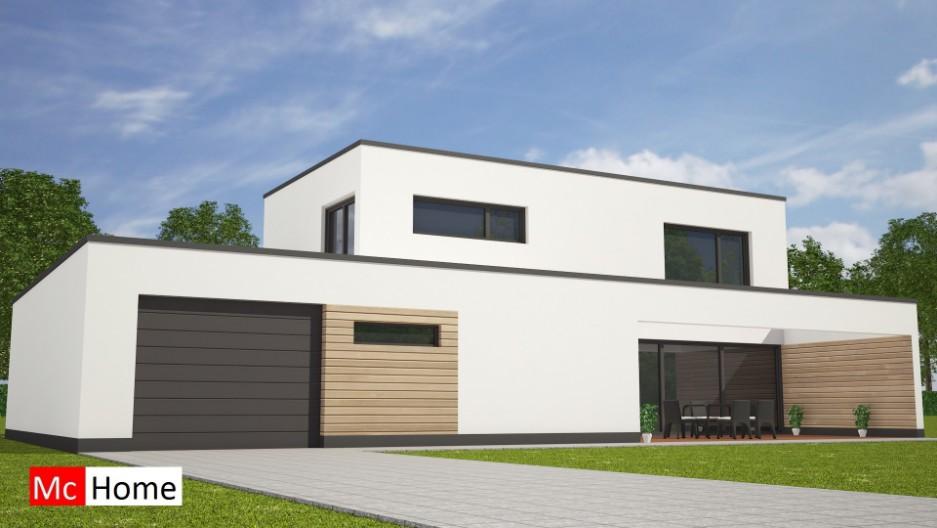 Moderne kubistische villa met garage en terras m122 mchome for Goedkope woning bouwen