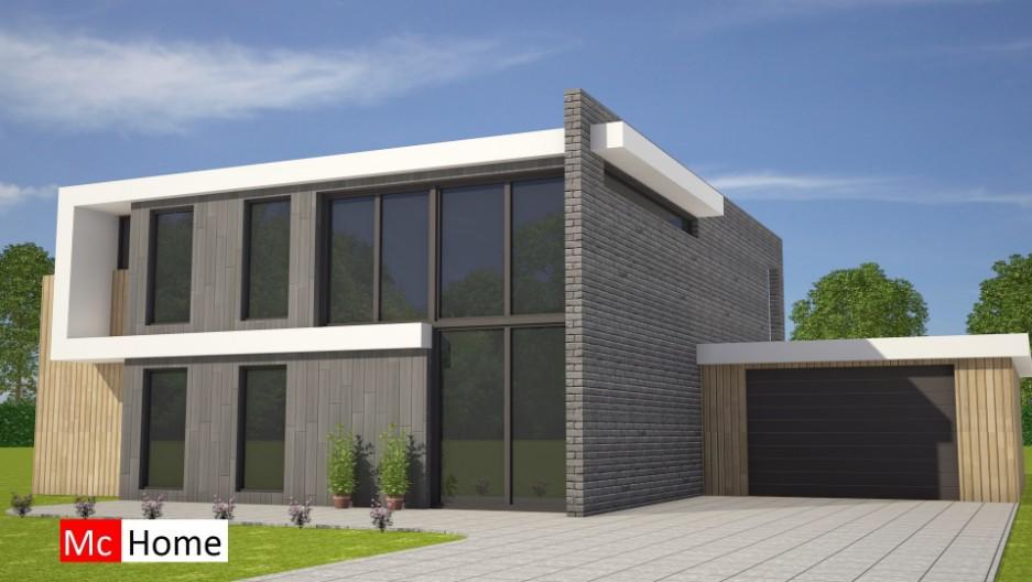 Moderne kubistische woning met veel glas m131 mchome for Afbeelding van moderne huizen