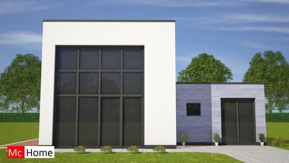 Moderne kubistische bungalow met kleine verdieping mchome - Moderne verdieping ...