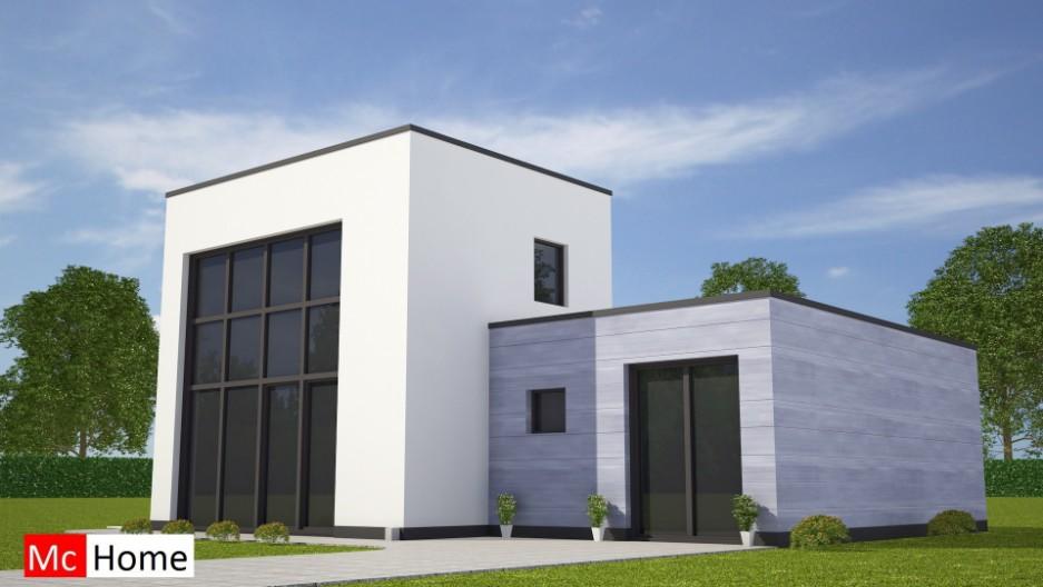 Moderne kubistische bungalow met kleine verdieping mchome for Kleine huizen bouwen