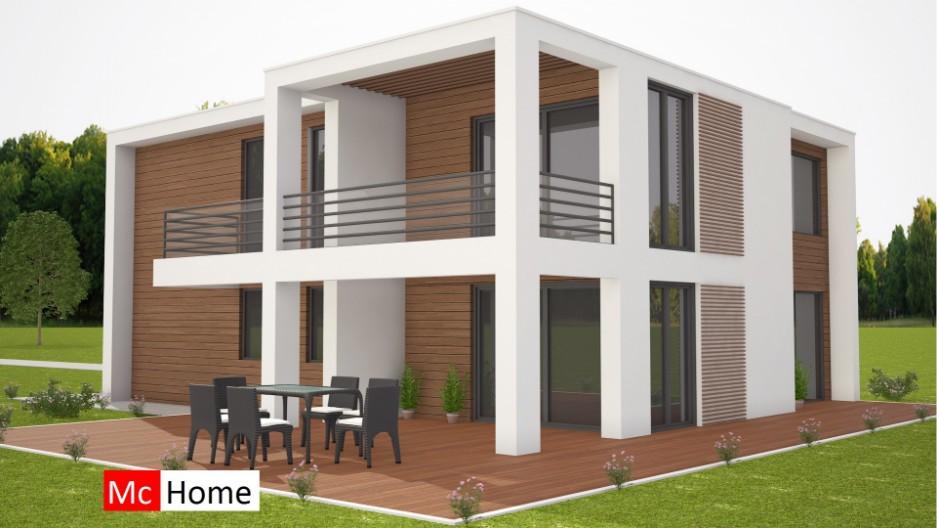 Mooie moderne villa onder prefab passief bouwen met for Bouwen kostprijs