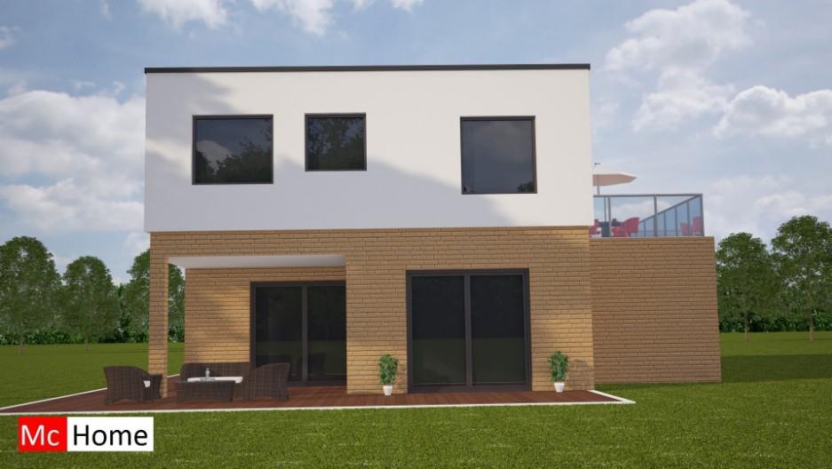 Moderne duurzame woning met architect m87 mchome - Terras van huis ...