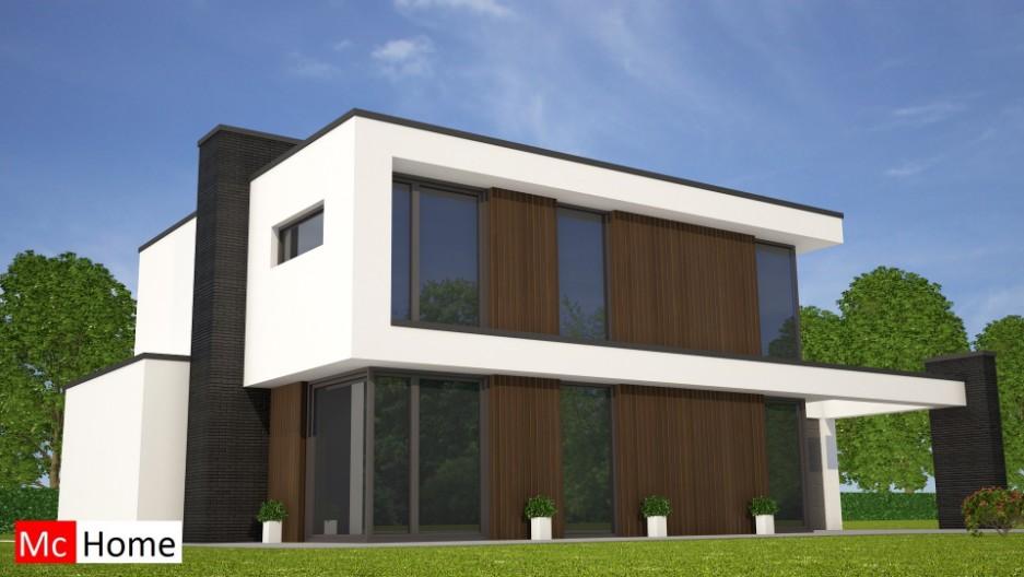 Mchomenl m moderne kubistische woning met veel glas for Zelf een huis bouwen prijzen